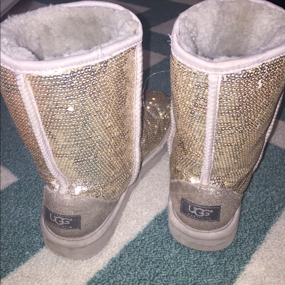 UGG Shoes   Silver Sparkly Uggs   Poshmark