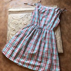 Kayce Hughes plaid summer dress, size 4.