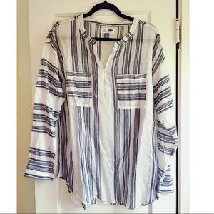 *NWOT* Old Navy Striped Cotton Tunic