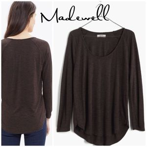 Madewell Anthem brown scoop Tee S