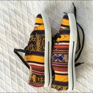 Inkkas Shoes - Global Print Unisex Low Top Sneakers Handmade Peru