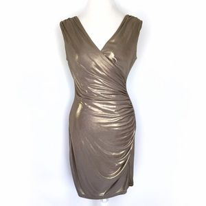 Andrew Marc Dresses & Skirts - Marc New York ruched gold jersey sheath dress