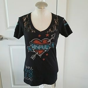 Sinful Tops - Sinful tee from Buckle