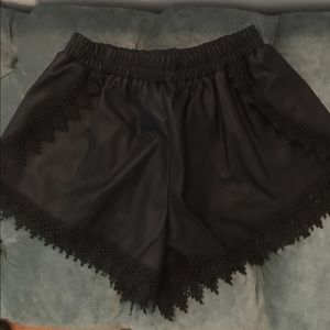 Glamour & Co. Pants - Faux leather shorts