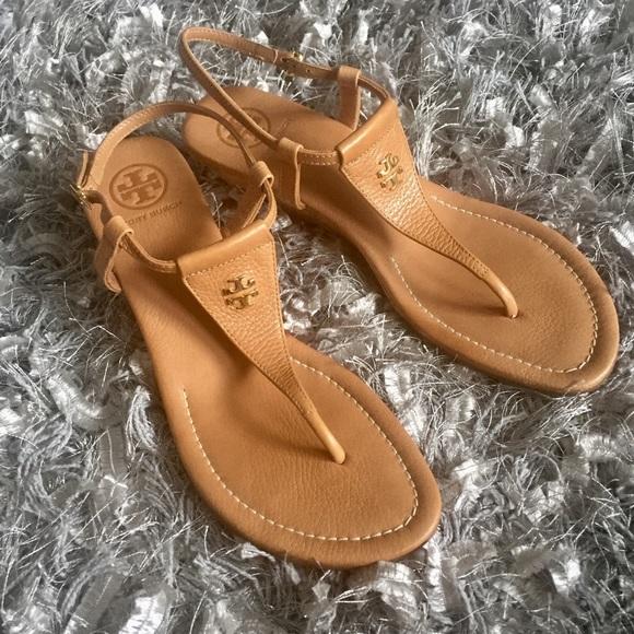4bef3ee1581b Tory Burch Britton Cork Wedge Thong Sandals 9.5. M 591e004cbcd4a7e7c5003fee