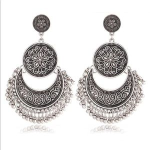 Jewelry - Hot Vintage Retro Antique Silver Earrings