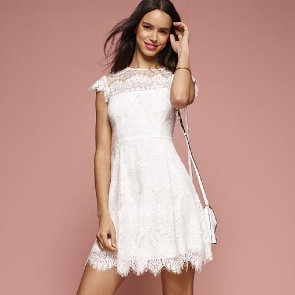 Bb Dakota White Lace Dress Nordstrom