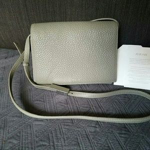auxiliary  Handbags - Auxiliary gray pebbled cow leather purse