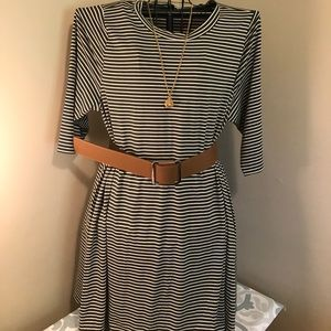 HeartSoul Dresses & Skirts - Olive and Cream Shift Dress