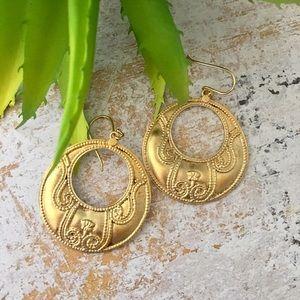 Satya Jewelry Jewelry - Lotus Filigree Earrings by Satya Jewelry