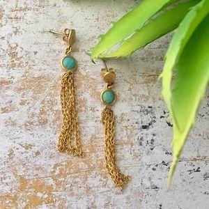 Satya Jewelry Jewelry - Hamsa Turquoise Earrings by Satya Jewelry