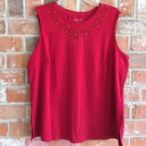 """Allison Daley Tops - """"Sexy in Red"""" Tank By Allison Daley 2X"""