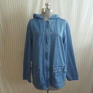 Vintage Jackets & Blazers - Vintage 90's Zip Up Denim Jacket