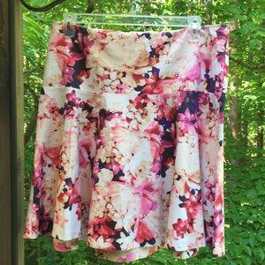 Lane Bryant Dresses & Skirts - LANE BRYANT FLORAL SKATER SKIRT