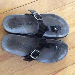 Mephisto Shoes - Black Mephisto sandals.