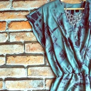 Tops - 🆕 sage brushstrokes blouse, sz XS, S, M, 0, 2, 4