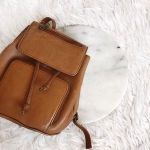 Vintage Handbags - • Mini Vintage Leather Backpack •