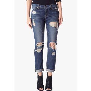 7 For All Mankind Denim - NWT 7FAM Josefina Destroyed Skinny Boyfriend Jeans