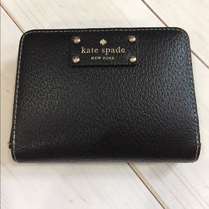 kate spade Handbags - ♠️Kate Spade compact black leather wallet