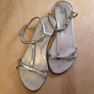 DKNY Shoes - DKNY Silver Sandals
