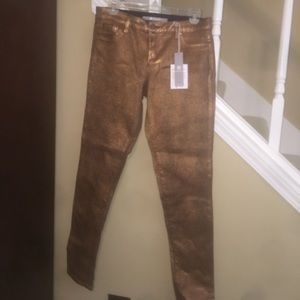 Tractr Pants - Tractr brand gold skinny pants, never worn, NWT
