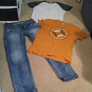 Other - American Eagle Bundle S Shirts & Skinny Jeans 28