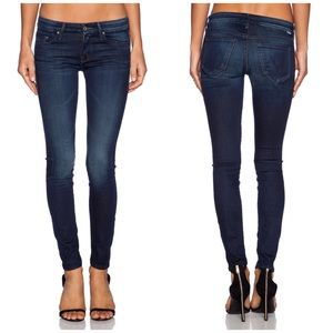 Mother The Looker Dark Washed Skinny Jeans