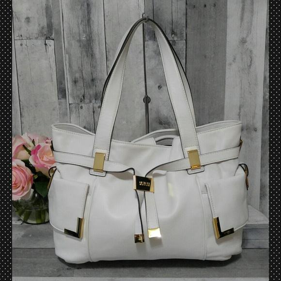 9c47f0cdbb0b Michael Kors Bags | Nwt White Beverly Handbag | Poshmark