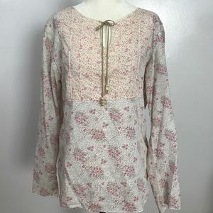 At Last Tops - ALC Delicate Floral Cotton Top- Med