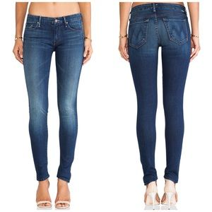 Mother The Looker Medium Wash Skinny Jeans