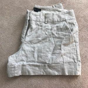 Linen cuffed shorts size 12