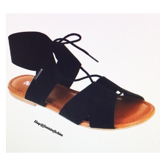 959664f5b0 MIA Shoes | Bonnie Black Gladiator Sandal | Poshmark