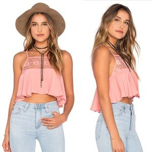For Love and Lemons Tops - 🎉HP 💯for love and lemons, lace pink cami top