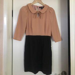Pink and Black Formal Dress