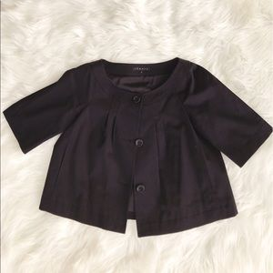 Theory Jackets & Blazers - • Theory • Black Button Up Short Sleeve Blazer