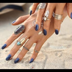Jewelry - NEW Midi & Knuckle Rings Vintage Style Boho Gypsy