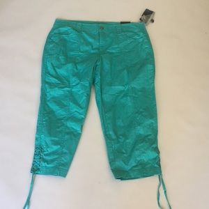 Style & Co Pants - Style & Co Capri turquoise