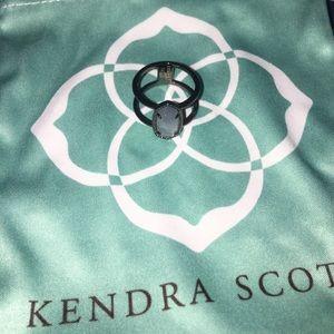Kendra Scott Elyse Gunmetal Slate Ring