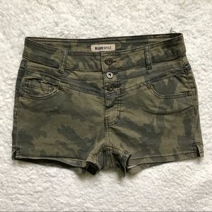 blue spice Pants - Camouflage Shorts by Blue Spice