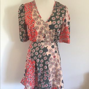 CHOISE Dresses & Skirts - Red and Green Floral Mini Dress