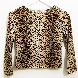 Forever 21 Tops - Forever 21 leopard print long sleeve crop top