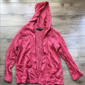 Forever 21 knit hoodie sweater cardigan