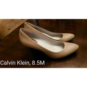 Calvin Klein Nude Pumps - 8.5 - Heels