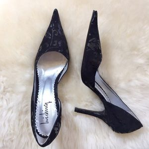 Luichiny Shoes - Luichini Black Suede Pointed Toe Heels