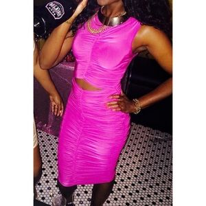 Dresses & Skirts - Pink Raunch Stretch Dress as seen on VH1