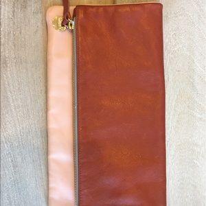 Clare Vivier Color block Leather Foldover Clutch