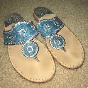 Jack Rogers Shoes - BARELY WORN: Jack Rogers Sparkle Sandal
