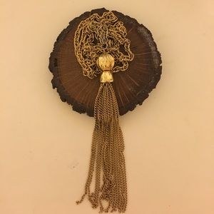 Jewelry - Gold Tassel Necklace