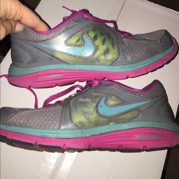 83 nike shoes nike dual fusion gray pink running