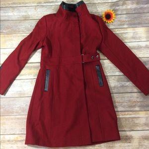Via Spiga Jackets & Blazers - Via Spiga red pea coat